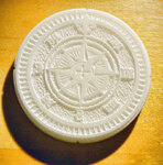 Compass Rose biscuit stamp